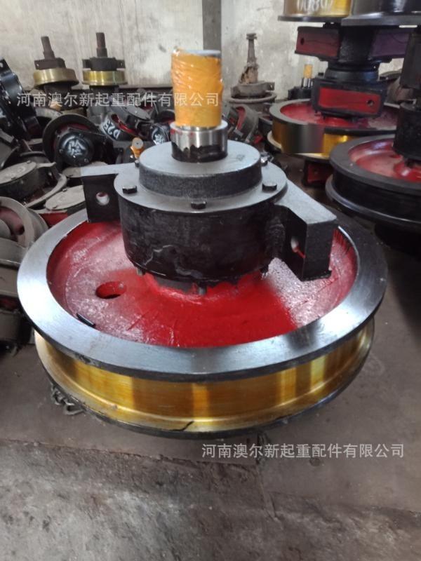 起重機車輪組 行車車輪組 鑄鋼雙緣大輪子