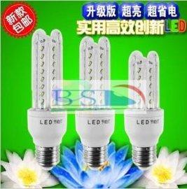 3U节能灯5W7W8W9W10W11W12W13W14W15W18W LED玉米灯 LED4U节能灯