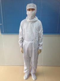 0.5网格无尘服、0.5条纹连体服、防静电防尘服、无尘连帽连体服、洁净服厂家