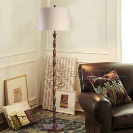 酒店**外贸灯 美式乡村 创意木质竹节落地灯 客厅书房卧室地灯
