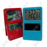 厂家直销DS-337电子相框夹子钟/精美闹钟