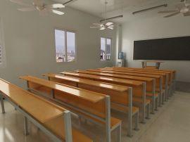 厂家直销 可定做实木教堂连排椅 连体培训椅 连体凳 教堂桌椅