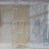 欧式铁艺花架仿古白书架多层折叠花架