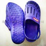 厂家直销防静电SPU拖凉鞋 带防静电标识的两用鞋