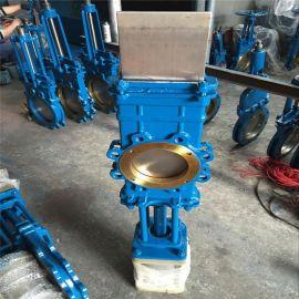 氣動穿透式插板閥鑄鋼對夾式刀閘閥DN200