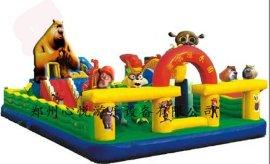 77平方熊出没充气城堡 儿童公园蹦床