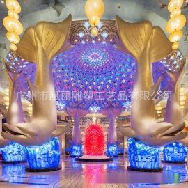 2015新品玻璃钢雕塑大型工艺品 海洋王国鱼雕塑玻璃钢制品