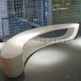 高档写字楼休息椅 热销时尚创意休闲坐凳 玻璃钢商场等候椅