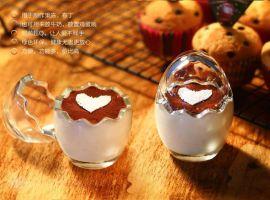 耐高温无铅鸡蛋壳玻璃布丁杯 布丁酸奶瓶 提拉米苏杯 果冻模具