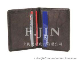 上海梵瑾 厂家定做复古风疯马皮名片包 定制真皮名片包