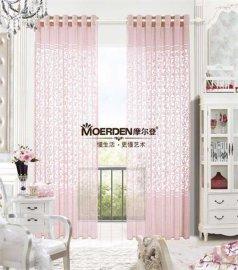 摩尔登遮光窗帘布艺定做 ,双面斜纹印花**欧式百叶窗帘