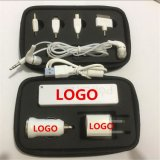 批發訂製旅行充電寶 車充牆旅充耳機移動電源充電器套裝 定可制顏色及LOGO