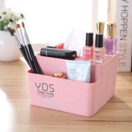 塑料分格化妆品收纳盒 桌面整理文具盒 纸巾盒 广告促销礼
