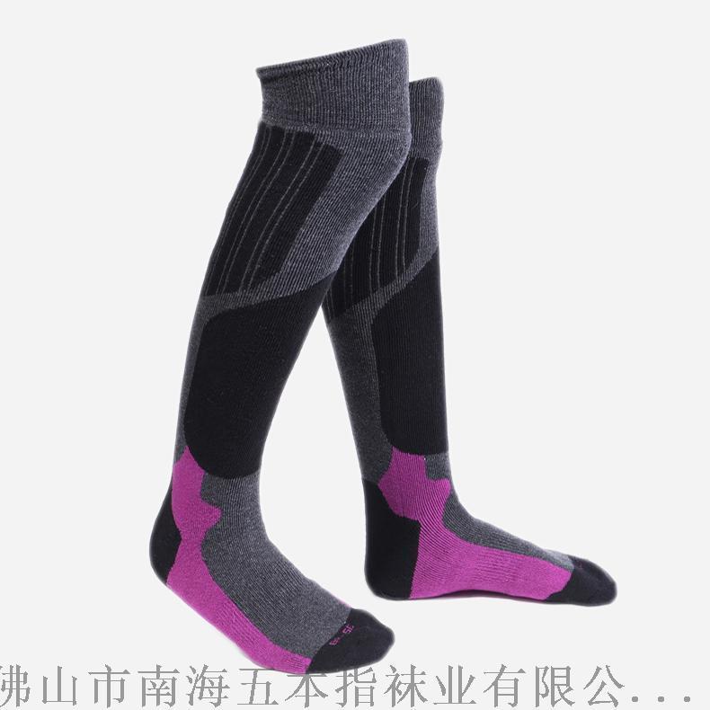冬季加厚保暖毛圈底品牌滑雪襪工廠加工定製毛巾登山襪外貿OEM長筒襪