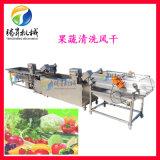 连续式蔬菜清洗机 净菜清洗沥水生产线