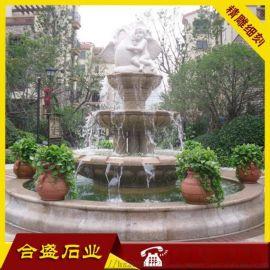 锈石水钵 广场流水钵 花岗岩喷泉