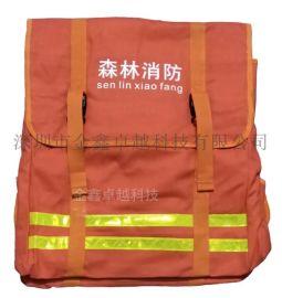 水带背包森林消防救援水带专用背包双肩大容量帆布背包