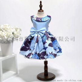 女童连衣裙蕾丝女宝宝童装 欧美时尚女童礼服