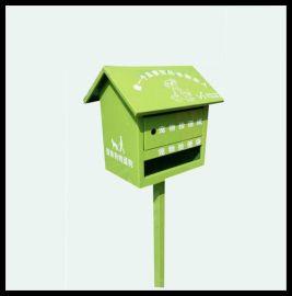 定制小区狗狗便便箱公园便袋箱 不锈钢咖啡色宠物便纸箱立式埋地