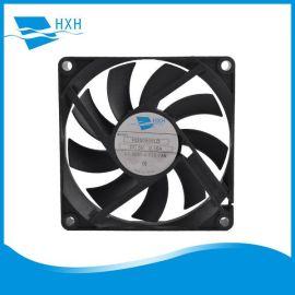 厂家生产8015无刷马达车载空气净化器直流无刷80*80*15散热风扇