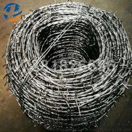 热镀锌刺绳厂家直销 防盗铁丝刺网图片 铁蒺藜优惠