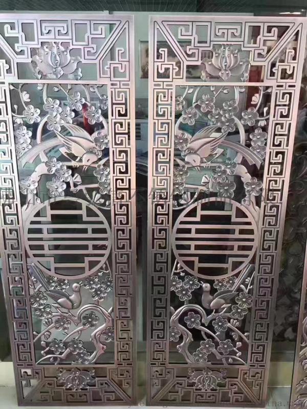 四川门厂  铝雕门花 浮雕铝艺门花厂家直销