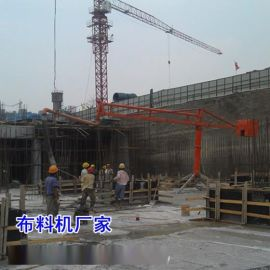 天津北辰区18米混凝土布料机施工案例
