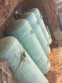 专业清掏化粪池 玻璃钢预制化粪池 16方沼气池