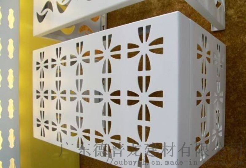 雲南昆明1.5厚鋁合金空調外機罩【白色雕花空調罩】