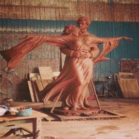 佛山玻璃钢情侣艺术雕塑、玻璃钢人物造型雕塑