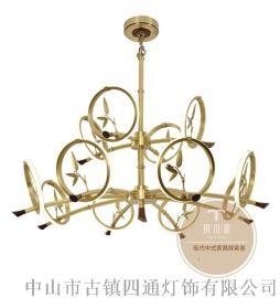 新中式灯具选购-家居新中式吊灯品牌厂家-铜木源招商