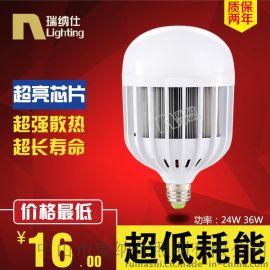 大功率LED球泡燈24W 36W 50W鳥籠球泡燈E27E40螺口工廠車間燈批發