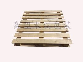 青岛木托盘加工厂家供应实木四面进叉定制尺寸欧标熏蒸木托盘