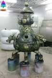 炼丹炉雕塑 仿青铜工艺品玻璃钢雕塑