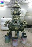 煉丹爐雕塑 仿青銅工藝品玻璃鋼雕塑