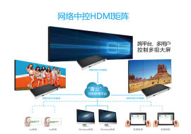 数字音视频矩阵处理器青云系列hdmi9进9出矩阵切换器