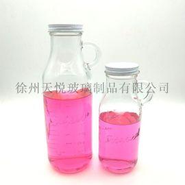 出口提手奶瓶500ml果汁瓶
