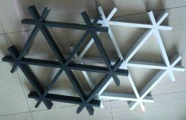 三角形吊顶铝格栅 黑色三角形铝格栅 三角形天花吊顶