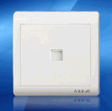 鸿润HR6C-202一联二芯电话插座/电话插座