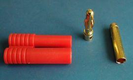 香蕉插头,4.0mm香蕉插头带护套,电池插头