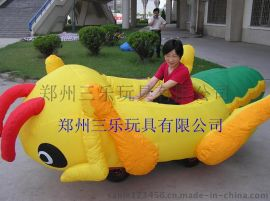 大蝗蟲外罩充氣電瓶車  河北氣模電瓶車報價