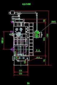 数控落地铣镗床CAD图纸