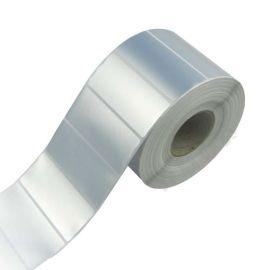 防水标签 珠宝标签 哑银pet标签 55*25*2500