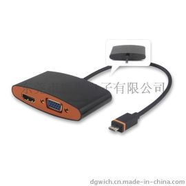 Slimport to HDMI+VGA 连接线