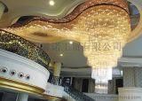 異形工程水晶燈,現代非標水晶吊燈,大堂中庭水晶燈,專業水晶燈定製設計,星級酒店水晶燈