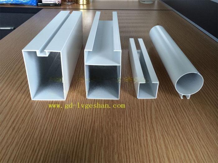 安徽热转印木纹铝方管,U型铝方通铝,圆管装饰铝型材