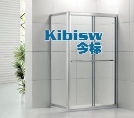 LR-002铝合金淋浴房双趟方形中柱8MM钢化玻璃洗浴房定制佛山厂家