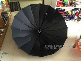 厦门广告伞16骨加固型直柄伞