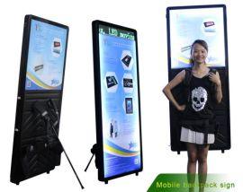 扬凌厂家直销LED背包灯箱人背灯箱移动充电式广告灯箱个性化人性化设计灯箱