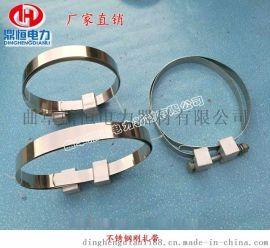 鼎恒电力厂家供应不锈钢刚扎带 杆用紧固夹具钢带抱箍 adss光缆金具